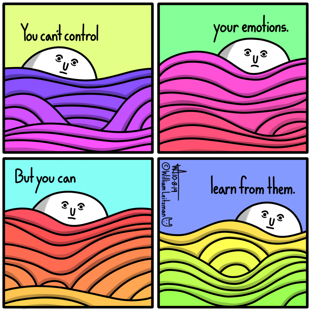You can't control your emotions. But you can learn from them.