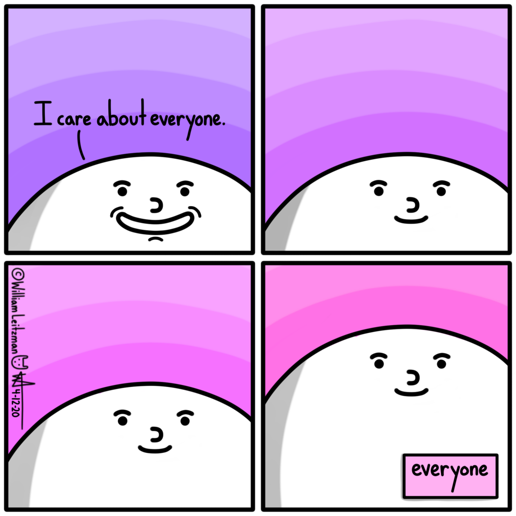 I care about everyone. everyone