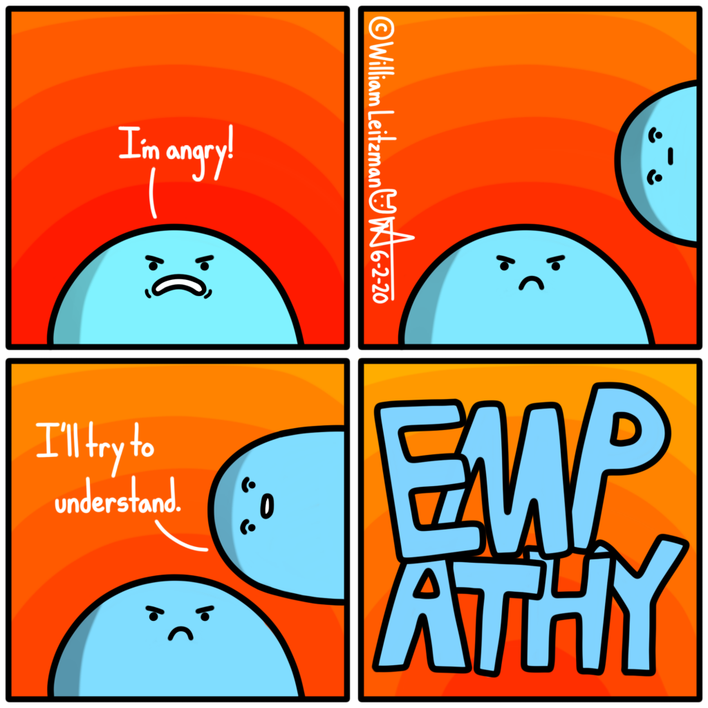 I'm angry! I'll try to understand. EMPATHY