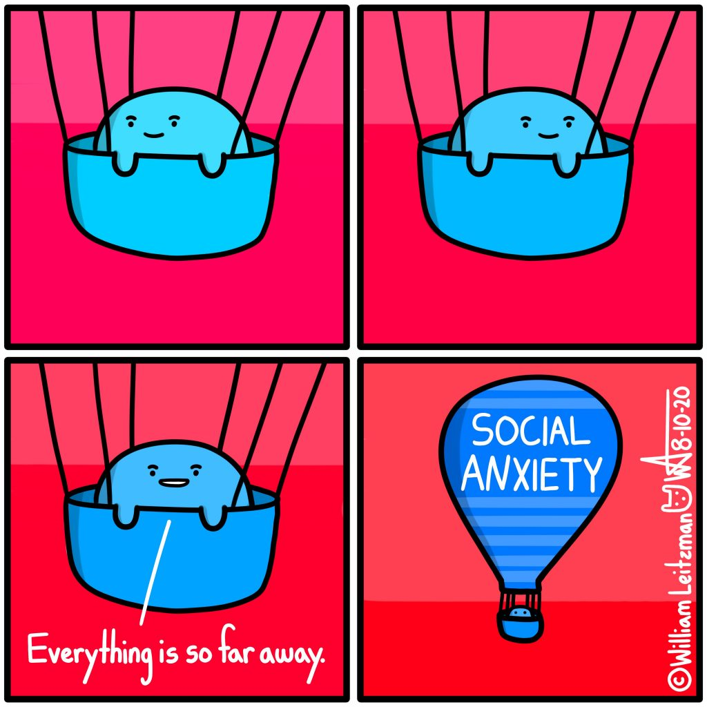 Everything is so far away. SOCIAL ANXIETY